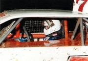1995 - Nick prepares to do battle in the Murrays Race Parts Falcon Super Sedan at Archerfield Speedway.