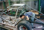 1991 - Nick at Work on a customer ordered chassis.